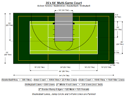 Backyard Basketball Half Court Download Half Court Size Garden Design