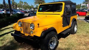 cj jeep yellow 1983 jeep cj 7 convertible j206 kissimmee 2018