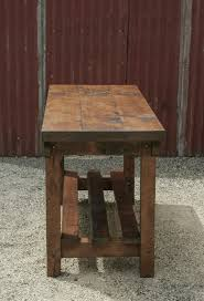 rustic vintage style industrial workbench table kitchen island