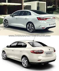 old renault 2016 renault megane sedan vs renault fluence rear three quarters