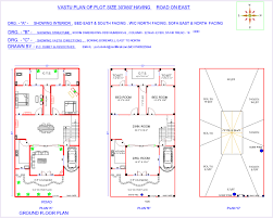 interior layout for south facing plot indian vastu plans