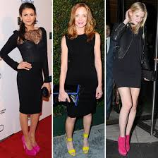 black dress and shoes color best dressed