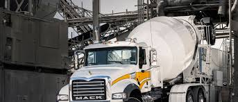 mack granite model delivers for concrete mixer applications