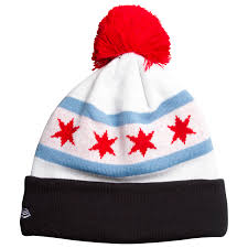 Chicago White Sox Map by Chicago White Sox Chicago Flag Batterman Logo Knit Pom Hat