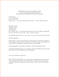 block style business letter contract template format date