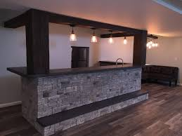 dynamic basement bar design with beams house pinterest