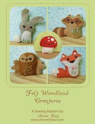 mini felt woodland creatures plush set 1 pdf sewing pattern felt