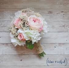 Shabby Chic Bridal Bouquet by Wedding Bouquet Blush Wedding Bouquet With Baby U0027s Breath