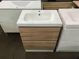 astra slimline 600mm white oak timber wood grain narrow bathroom