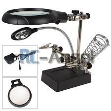 magnifier with led light helping hand soldering stand with led light magnifier magnifying