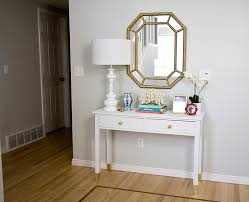Entryway Furniture Target Thrifted Console Table Transformation Video How To Paint