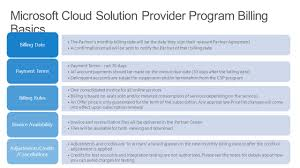 billing and invoicing microsoft cloud solution provider ppt