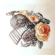 birdcage tattoo design