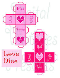 printable question dice printable love dice valentine s day game sex naughty