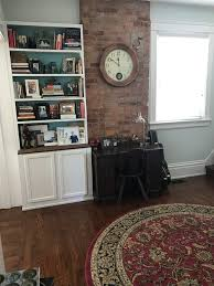 paint color for music room with exposed brick
