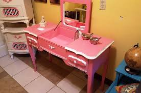 Pink Vanity Set Furniture Diy Makeup Station Makeup Desks Bedroom Vanity Sets