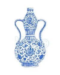 Ginger Jar Vase Blue And White Ginger Jar Vase No 8 Giclee By Laurarowstudio
