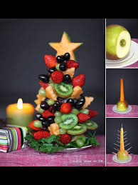 fruit christmas tree tis the season pinterest christmas