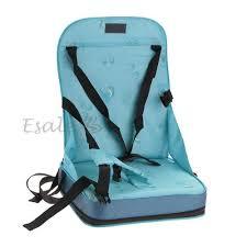 siège repas bébé bleu coussin housse chaise haute rehausseur nomade siège sécurité