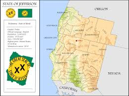 State Capitol Map by Map Of Jefferson State Or Like If It Was Admitted As A State Oc