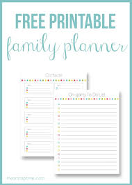 free printable family planner i heart nap time i heart nap time
