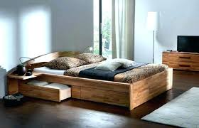 floor level bed full size bed frame low to ground round designs