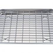 Easy Clean Toaster Teamfar Pure Stainless Steel Sheet Pan And Rack Set 9 5 U0027 U0027x12 5