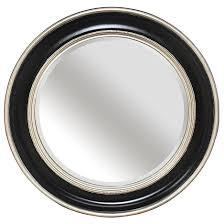 Bevelled Mirror Round Silver Black Bevelled Mirror U2013 Mirrors Ie