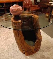 Coffee Tables Made From Trees Solid Wood Tree Trunk Dining Table Dining Table Design Ideas