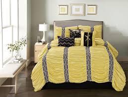 Black Comforter King Size 7 Piece Harley Yellow Black Comforter Set