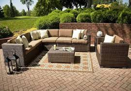 Ty Pennington Furniture Collection by Outdoor 4pc Outdoor Patio Garden Furniture Wicker Rattan Sofa Set