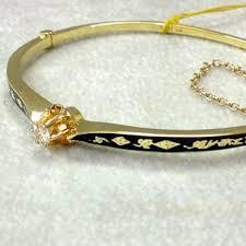 gold bangle bracelet with diamonds images Antique gold bangle bracelet village goldsmith antiques jpg
