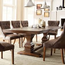Belham Living Kennedy Trestle Extension Dining Table Hayneedle - Trestle kitchen tables