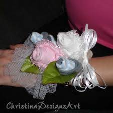 baby sock corsage baby sock corsage designs