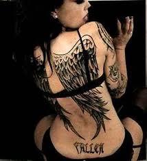 angel wings feminine tattoo on back tattoos book 65 000