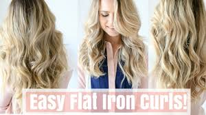 how to make flicks with a hair straightener how to easy flat iron curls no twisting youtube