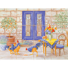 imagine tile french country 24 in x 18 in ceramic mural wall imagine tile french country 24 in x 18 in ceramic mural wall tile