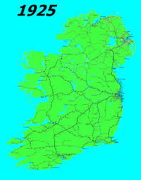 ireland u0027s railway maps between 1925 and 1975 map for 1975 is