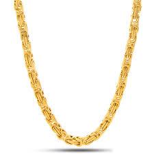 byzantine necklace images 5mm king ice 14k gold byzantine chain kingice jpeg