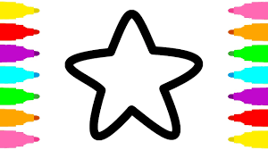 how to draw star coloring pages for children art colours for kids