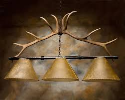 rustic pool table lights antler pool table light frontier iron works