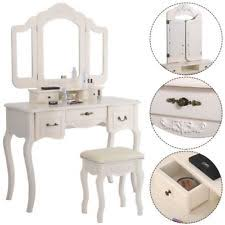 Mirrored Vanity Set Vanities U0026 Makeup Tables Ebay