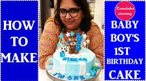 how to make a cake for a boy how to make baby boy s birthday cake decorating tutorial
