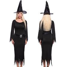 black dress for halloween party women halloween wicked witch costume role play party fancy