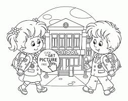 coloring page for kindergarten going back to back