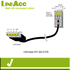 linkacc nc1 usb a male to rj50 10p10c for a pc cable buy usb a