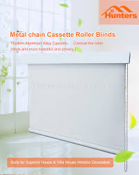 customized new design top head cover fascia window roller blind