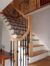 Staircase Update Ideas Oak Stair Railings U0026 Iron Balusters 2 Stairs Staircase Update
