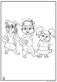 28 alvin chipmunks coloring pages images