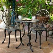 Iron Patio Table And Chairs Cast Iron Patio Furniture Sets Foter